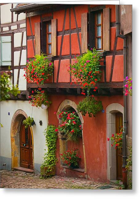 Alsace Greeting Cards - Half Timbered Greeting Card by John Galbo