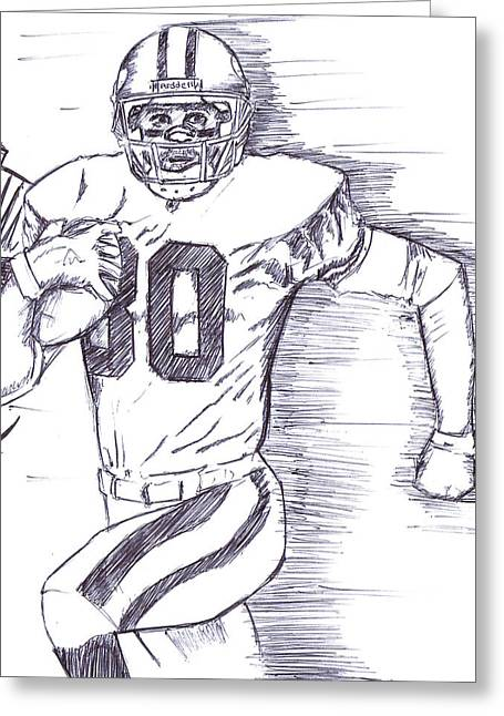 Jerry Rice Greeting Cards - Hall of Famer Jerry Rice   Greeting Card by HPrince De Artist
