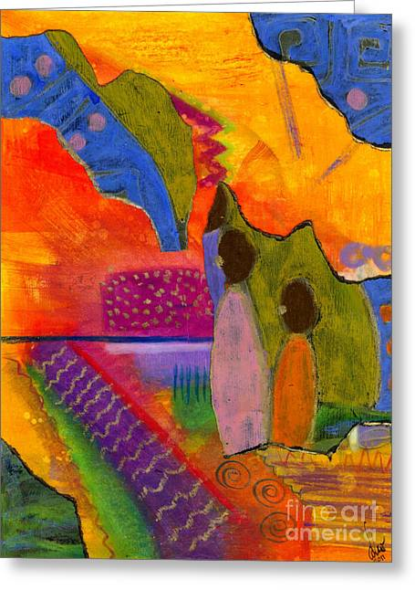 African Angel Greeting Cards - Hallelujah Praise Greeting Card by Angela L Walker