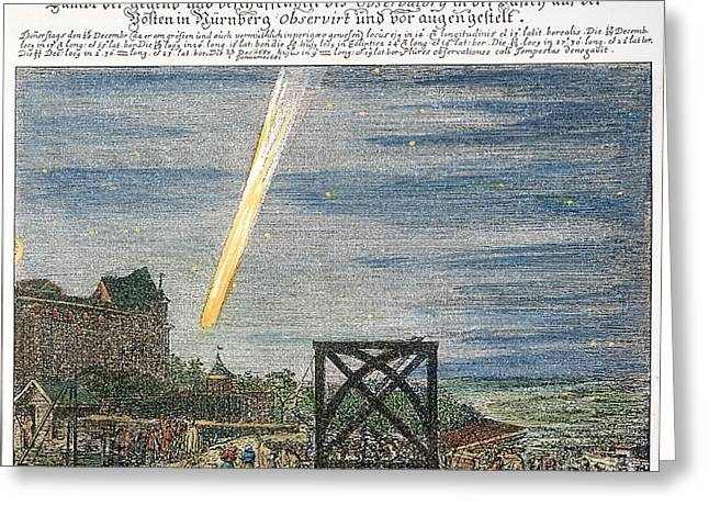 1680 Greeting Cards - Halleys Comet Greeting Card by Granger