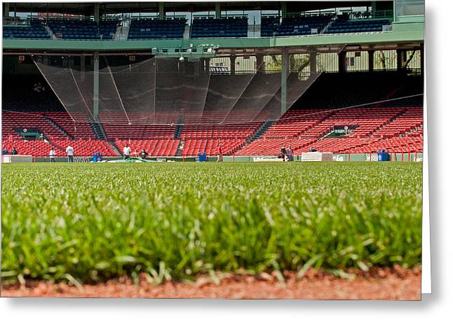 Fenway Park Greeting Cards - Hallowed Ground Greeting Card by Paul Mangold