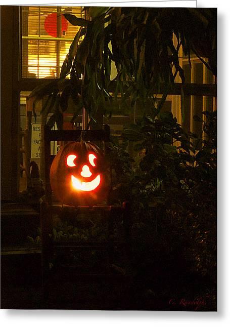 Cheri Randolph Greeting Cards - Halloween Beacon Greeting Card by Cheri Randolph
