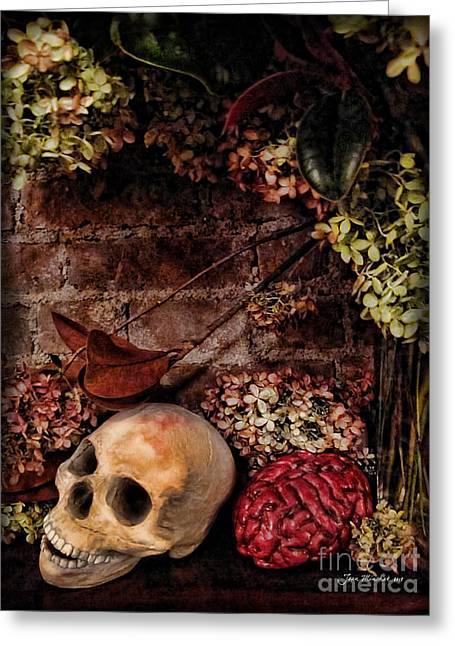 Ghastly Greeting Cards - Halloween Still Life Greeting Card by Joan  Minchak