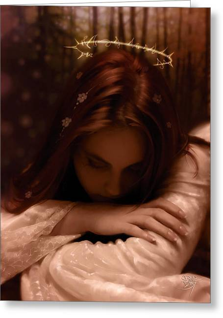 Crown Of Thorns Greeting Cards - Halo Greeting Card by David Bollt