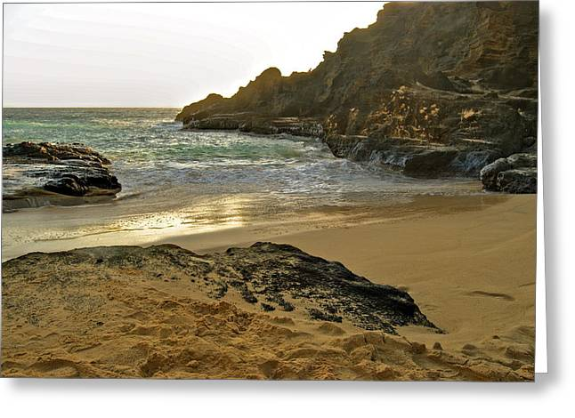 Halona Greeting Cards - Halona Beach Cove Greeting Card by Michael Peychich
