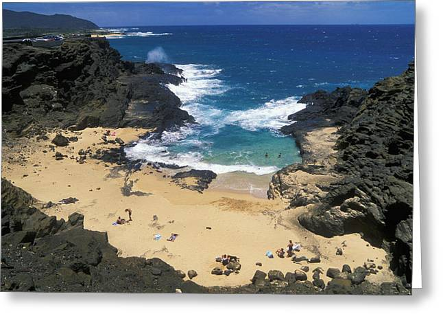 Halona Greeting Cards - Halona Cove Greeting Card by Greg Vaughn - Printscapes
