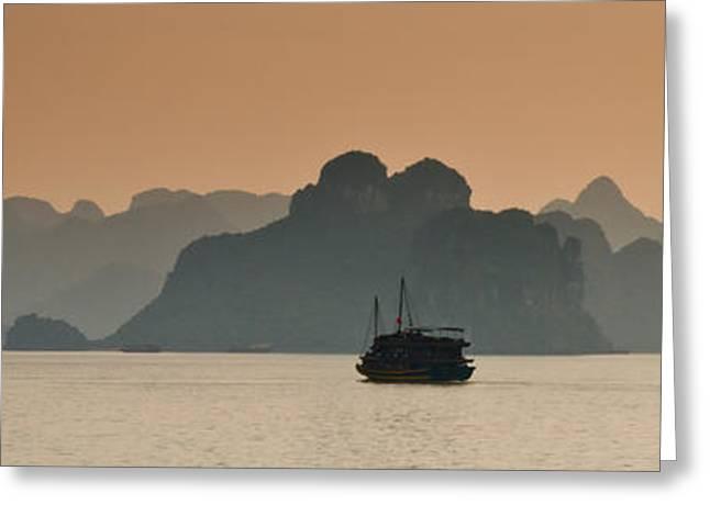 Halong Bay Greeting Card by Peter Verdnik