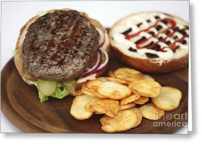 Red Meat Greeting Cards - Hamburger  Greeting Card by PhotoStock-Israel
