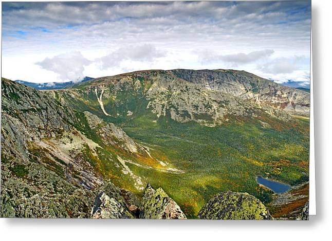 Baxter Park Greeting Cards - Hamlin Peak Baxter State Park Maine Greeting Card by Brendan Reals