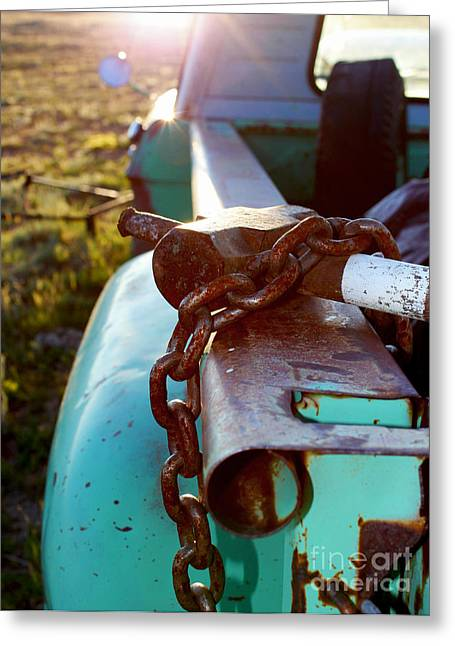 Hammer Chain And Truck Greeting Card by Wesley Hahn