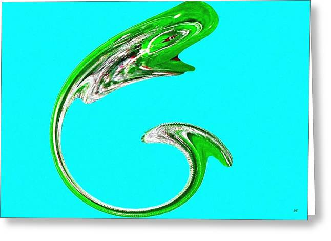 Decorative Fish Greeting Cards - Hammer Tail Whale Greeting Card by Will Borden