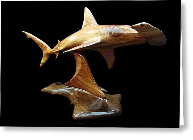 Hammerhead Shark Greeting Cards - Hammerquest Greeting Card by Kjell Vistnes