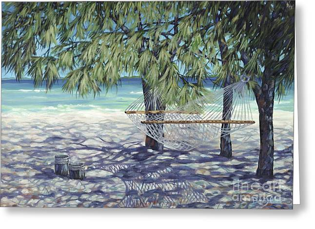 Hammock for Two Greeting Card by Danielle  Perry