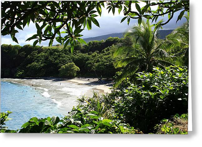 Ourjrny Greeting Cards - Hamoa Beach Maui Hawaii Greeting Card by Sharon Mau