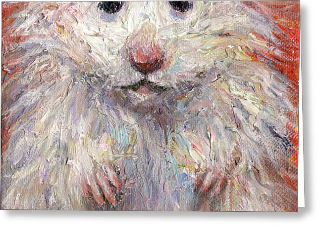 Hamster Painting  Greeting Card by Svetlana Novikova
