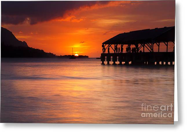 Hanalei Pier Greeting Card by Mike  Dawson