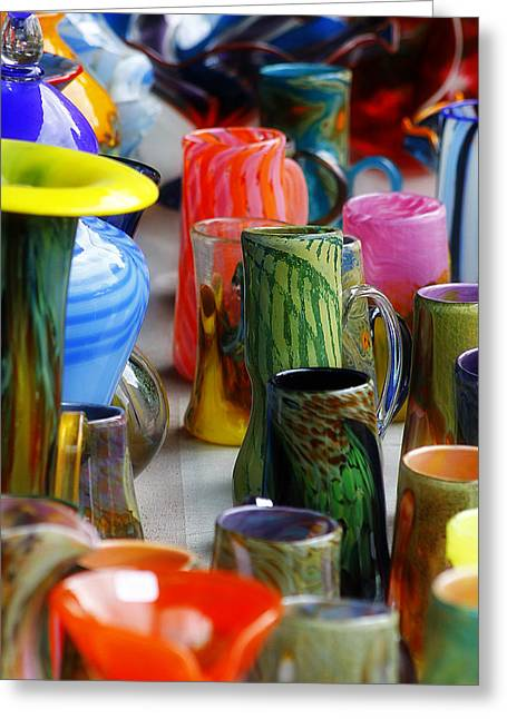 Art Blown Glass Greeting Cards - Hand Blown Glass 2 Greeting Card by Scott Hovind