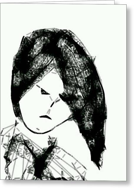 Anger Drawings Greeting Cards - Hand in Hand Greeting Card by Gloria Warren