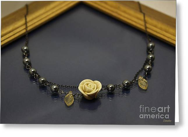Flower Jewelry Greeting Cards - Hand Made Jewelry Greeting Card by Eena Bo