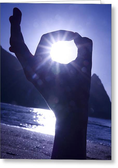Amazing Sunset Greeting Cards - Hand of Hanalei Bay Greeting Card by Kicka Witte - Printscapes
