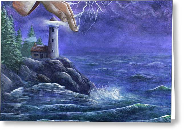 Hand of Protection Greeting Card by Kristi Roberts