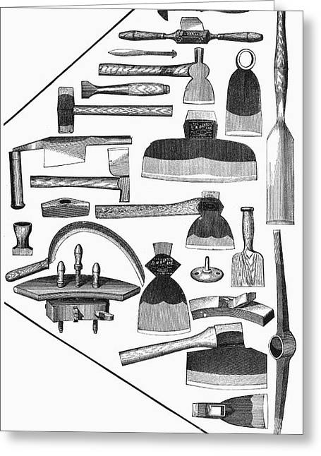 1876 Greeting Cards - Hand Tools, 1876 Greeting Card by Granger