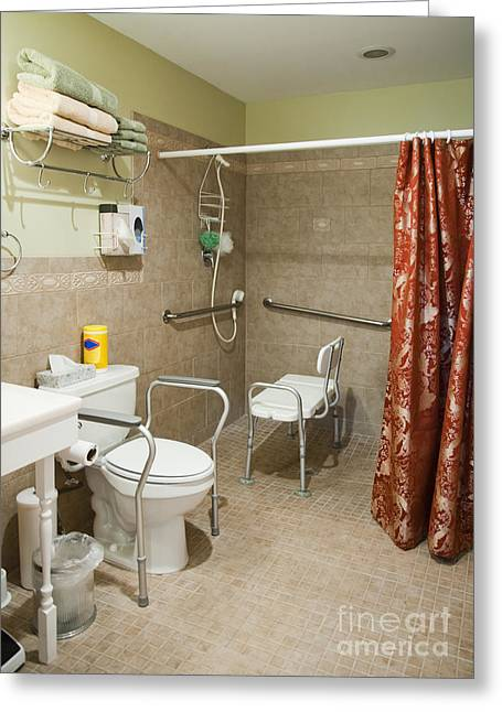 Disability Greeting Cards - Handicapped-Accessible Bathroom Greeting Card by Andersen Ross