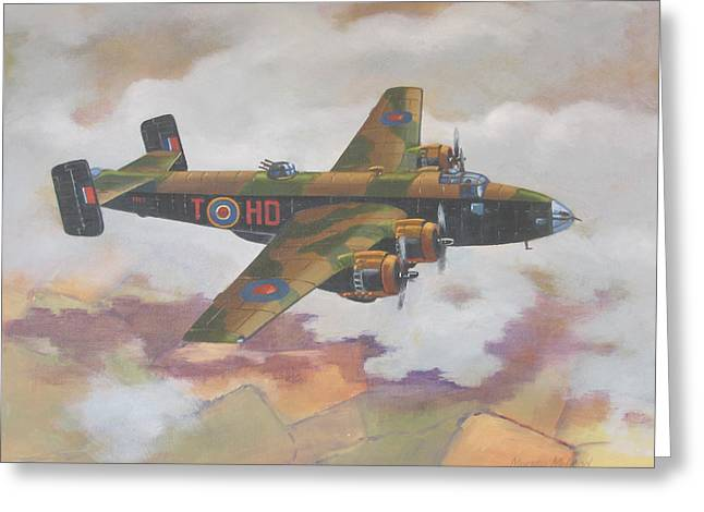 Handley Page Halifax Greeting Card by Murray McLeod