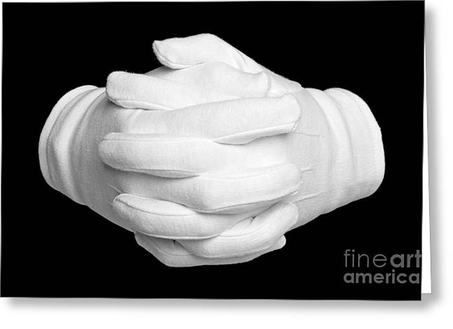 Cooperation Greeting Cards - Hands clenched Greeting Card by Richard Thomas
