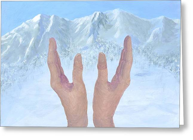 Praying Hands Greeting Cards - Hands in Worship Greeting Card by Jean Anne Baldwin