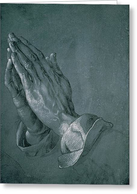 Divine Greeting Cards - Hands of an Apostle Greeting Card by Albrecht Durer
