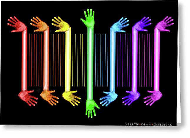 Therapy Mixed Media Greeting Cards - Hands of the Artist Greeting Card by Dean Gleisberg