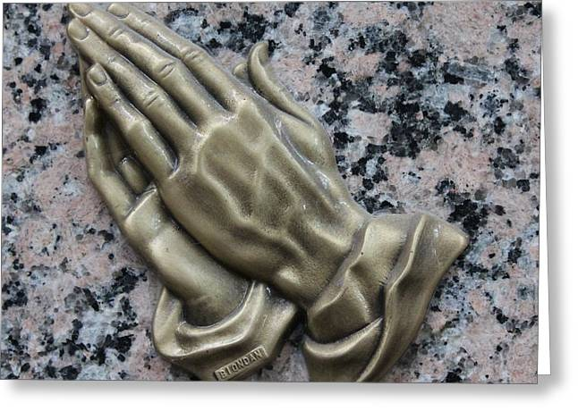 Praying Hands Greeting Cards - Hands Greeting Card by Rebecca Frank