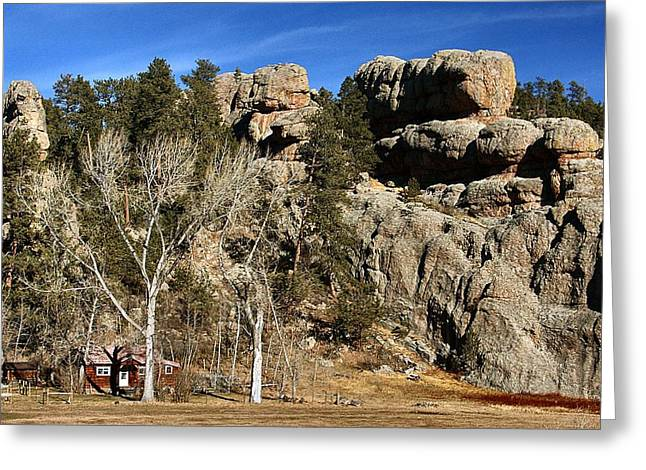 Hang A Left At The Rock Greeting Card by Lynne and Don Wright