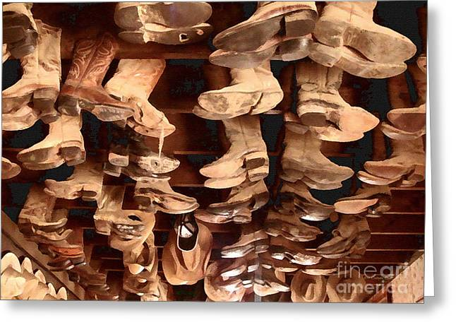 Boots Digital Greeting Cards - Hang em High Greeting Card by Cristophers Dream Artistry