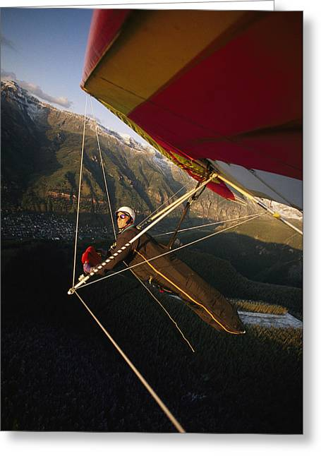 Model Colorado Greeting Cards - Hang Glider Over Telluride, Colorado Greeting Card by Skip Brown