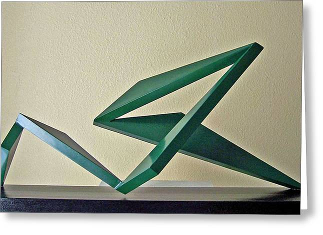Abstract Waves Sculptures Greeting Cards - Hang Ten Greeting Card by John Neumann
