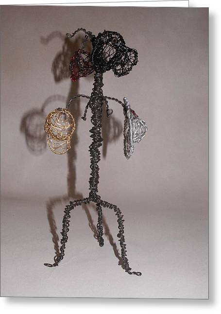 Silver Sculptures Greeting Cards - Hang Your Hat Greeting Card by Charlene White