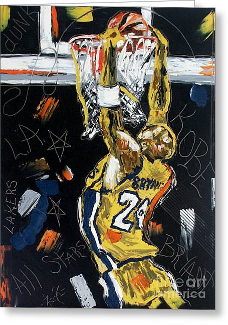 Kobe Paintings Greeting Cards - Hangin Out Greeting Card by Wayne LE ONE
