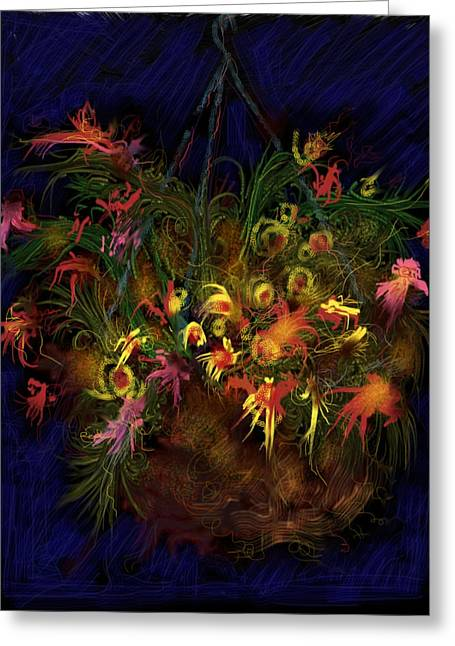 Hanging Planter Greeting Cards - Hanging Around Greeting Card by Russell Pierce