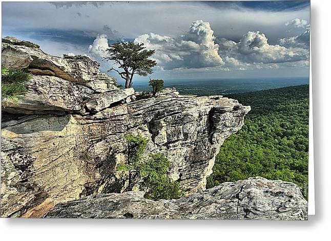 Ledge Greeting Cards - Hanging In North Carolina Greeting Card by Adam Jewell