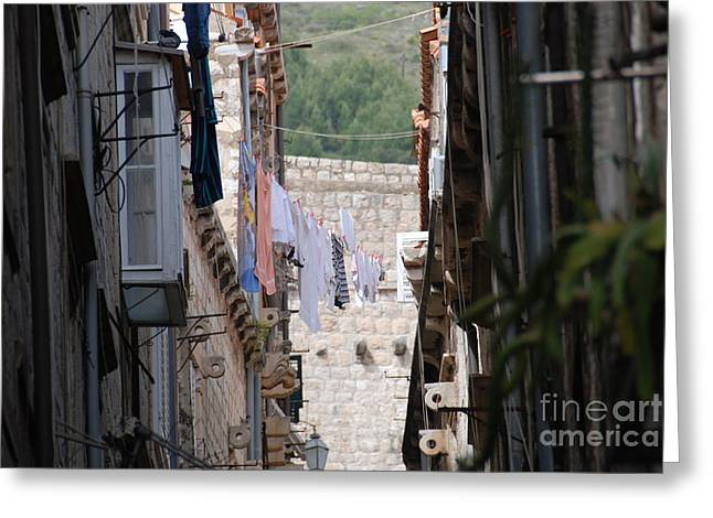 Hanging Out In Dubrovnik Greeting Card by Barry Luroe