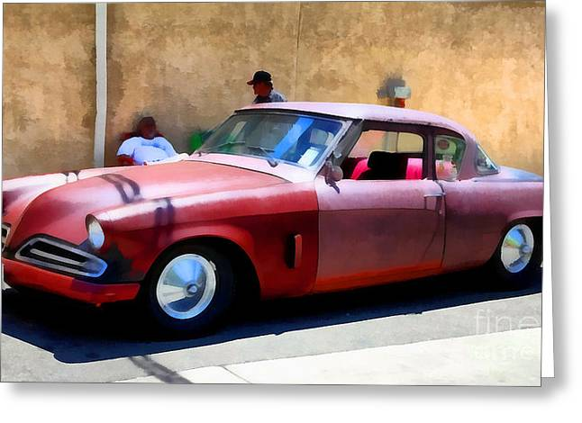 Made In The Usa Digital Greeting Cards - Hanging With My Buddy . 1953 Studebaker .  5D16513 Greeting Card by Wingsdomain Art and Photography