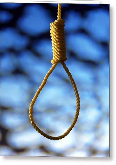 Neck Tie Greeting Cards - Hangmans Noose Greeting Card by Victor De Schwanberg