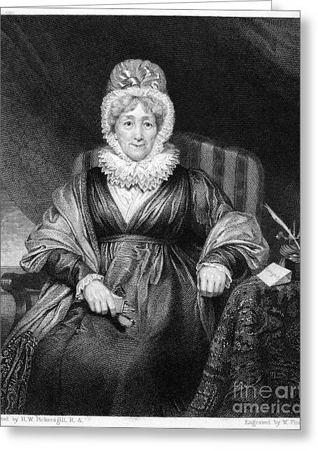 Reformer Greeting Cards - Hannah More (1745-1833) Greeting Card by Granger