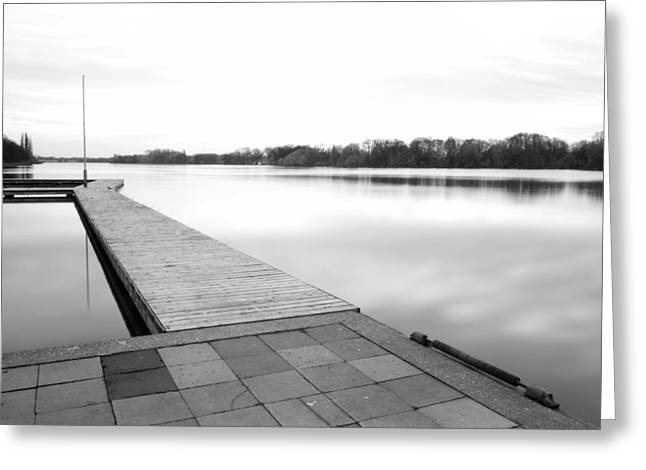 Landing Stage Greeting Cards - Hannover II Greeting Card by Marc Huebner