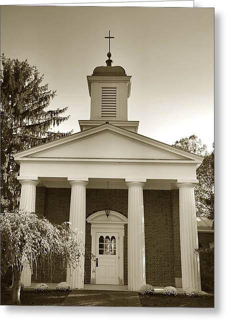 Religious Framed Prints Greeting Cards - Hanover College Chapel Greeting Card by Steven Ainsworth