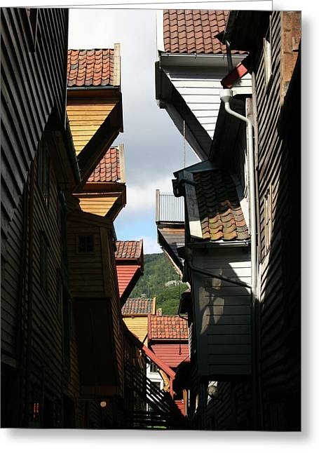 House Gable Greeting Cards - Hanseatic Gables  Greeting Card by Helene Sobol