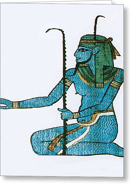 Egyptian Art Greeting Cards - Hapi, Egyptian God Greeting Card by Photo Researchers