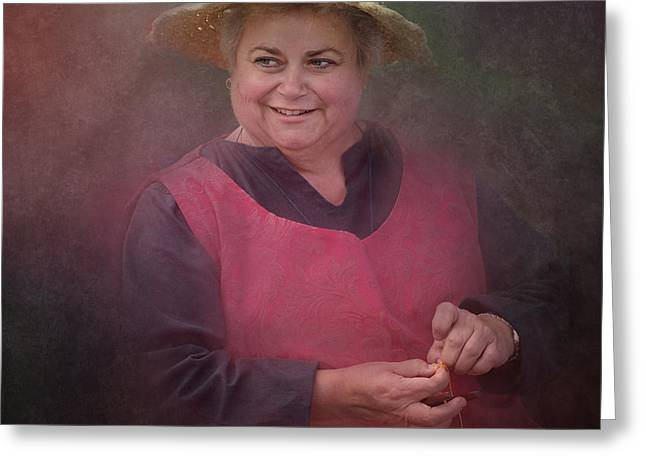 Gumeracha Greeting Cards - Happiness is a straw hat Greeting Card by Jan Pudney